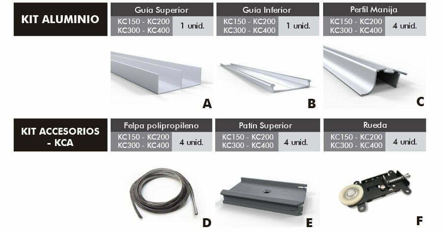 Nuevo sistema compacto para armado de placares barraca for Carriles de aluminio para toldos